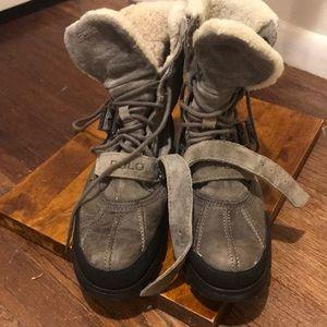 NEW designer winter shearling boots - Ralph Lauren
